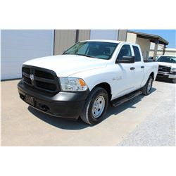 2015 DODGE 1500 Pickup Truck, VIN/SN:1C6RR7FT8FS765341 - 4x4, ext. cab, V8 gas, A/T, AC, 64,386 odom