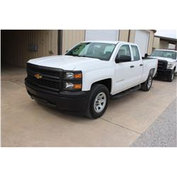2015 CHEVROLET 1500 Pickup Truck, VIN/SN:1GCRCPEC3FZ208873 - ext. cab, V8 gas, A/T, AC, 60,576 odome