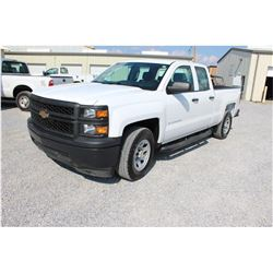2015 CHEVROLET 1500 Pickup Truck, VIN/SN:1GCRCPECXFZ206778 - ext. cab, V8 gas, A/T, AC, 71,775 odome