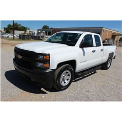 2015 CHEVROLET 1500 Pickup Truck, VIN/SN:1GCRCPEC9FZ209011 - ext. cab, V8 gas, A/T, AC, 78,163 odome