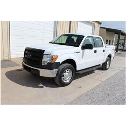 2014 FORD F150 Pickup Truck, VIN/SN:1FTFW1EF4EKE58373 - 4x4, crew cab, V8 gas, A/T, AC, bed cover, 5
