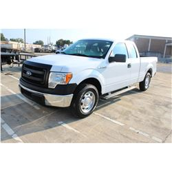 2014 FORD F150 Pickup Truck, VIN/SN:1FTEX1CM8EKG34870 - ext. cab, V6 gas, A/T, AC, 43,138 odometer r