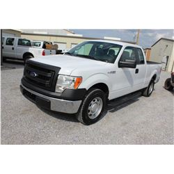 2014 FORD F150 Pickup Truck, VIN/SN:1FTEX1CM5EFA85329 - ext. cab, V6 gas, A/T, AC, 51,739 odometer r