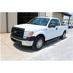 2014 FORD F150 Pickup Truck, VIN/SN:1FTEX1CM4EFA85340 - ext. cab, V6 gas, A/T, AC, 52,073 odometer r