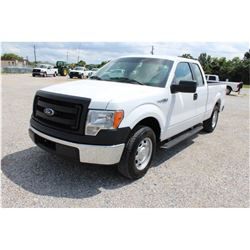 2014 FORD F150 Pickup Truck, VIN/SN:1FTEX1CM7EFB18279 - ext. cab, V6 gas, A/T, AC, 59,637 odometer r