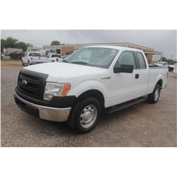 2014 FORD F150 Pickup Truck, VIN/SN:1FTEX1CM2EFA85336 - ext. cab, V6 gas, A/T, AC, 61,762 odometer r