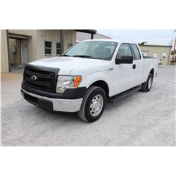 2014 FORD F150 Pickup Truck, VIN/SN:1FTEX1CM0EFC09622 - ext. cab, V6 gas, A/T, AC, 68,848 odometer r