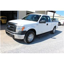 2014 FORD F150 Pickup Truck, VIN/SN:1FTEX1CM0EFC09605 - ext. cab, V6 gas, A/T, AC, 70,092 odometer r