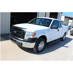 2014 FORD F150 Pickup Truck, VIN/SN:1FTEX1CM1EFC09628 - ext. cab, V6 gas, A/T, AC, bed cover, 87,466