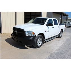2013 DODGE 1500 Pickup Truck, VIN/SN:1C6RR7KT7DS670174 - 4x4, crew cab, V8 gas, A/T, AC, bed cover,