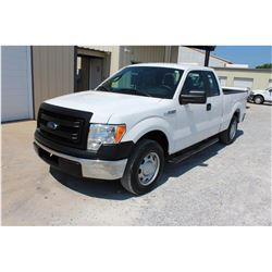 2013 FORD F150 Pickup Truck, VIN/SN:1FTEX1CM8DFC14128 - ext. cab, V6 gas, A/T, AC, 46,579 odometer r