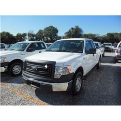 2013 FORD F150 Pickup Truck, VIN/SN:1FTEX1CMXDFC14129 - ext. cab, V6 gas, A/T, AC, 47,180 odometer r