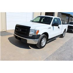 2013 FORD F150 Pickup Truck, VIN/SN:1FTEX1CM1DFC14116 - ext. cab, V6 gas, A/T, AC, 49,754 odometer r