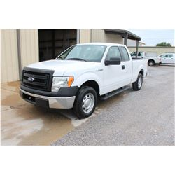 2013 FORD F150 Pickup Truck, VIN/SN:1FTEX1CM3DFC14098 - ext. cab, V6 gas, A/T, AC, 52,553 odometer r