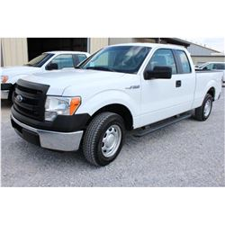 2013 FORD F150 Pickup Truck, VIN/SN:1FTEX1CMXDKE99695 - ext. cab, V6 gas, A/T, AC, 53,422 odometer r