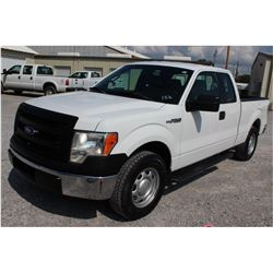 2013 FORD F150 Pickup Truck, VIN/SN:1FTEX1CM6DFC14127 - ext. cab, V6 gas, A/T, AC, 58,061 odometer r