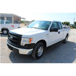 2013 FORD F150 Pickup Truck, VIN/SN:1FTEX1CM9DFB61407 - ext. cab, V6 gas, A/T, AC, 59,551 odometer r