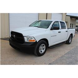 2012 DODGE 1500 Pickup Truck, VIN/SN:1C6RD6KP0CS279104 - crew cab, V8 gas, A/T, AC, bed cover, 52,11