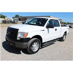 2012 FORD F150 Pickup Truck, VIN/SN:1FTEX1EM3CFB03658 - 4x4, ext. cab, V6 gas, A/T, AC, 47,902 odome