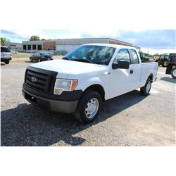 2012 FORD F150 Pickup Truck, VIN/SN:1FTEX1CM9CFB27093 - ext. cab, V6 gas, A/T, AC, 35,474 odometer r