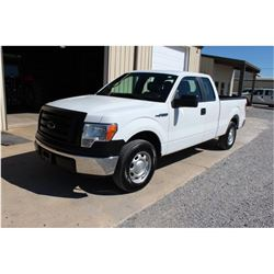 2012 FORD F150 Pickup Truck, VIN/SN:1FTEX1CM2CFC04015 - ext. cab, V6 gas, A/T, AC, 43,980 odometer r