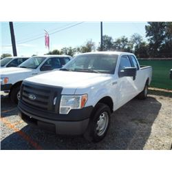 2012 FORD F150 Pickup Truck, VIN/SN:1FTEX1CM0CFB27094 - ext. cab, V6 gas, A/T, AC, 52,318 odometer r