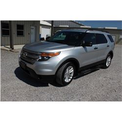 2015 FORD EXPLORER SUV, VIN/SN:1FM5K8B81FGC27288 - 4x4, V6 gas, A/T, AC, 3rd row seating, 123,691 od