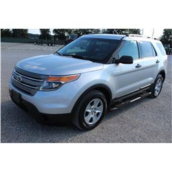 2014 FORD EXPLORER SUV, VIN/SN:1FM5K8B80EGB80091 - 4x4, V6 gas, A/T, AC, 3rd row seating, 81,918 odo