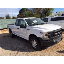 2016 FORD F150 Pickup Truck, VIN/SN:1FTFX1EF4GFC39535 - 4x4, -ext. cab, V8 gas, A/T, AC, 30,031 odom