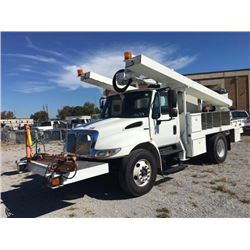 2010 INTERNATIONAL 4300 DuraStar Bucket/Sign Truck, VIN/SN:1HTJTSKM7AH174094 - S/A, Int. Maxxforce7