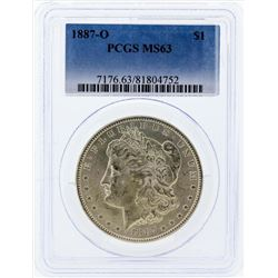 1887-O $1 Morgan Silver Dollar Coin PCGS MS63