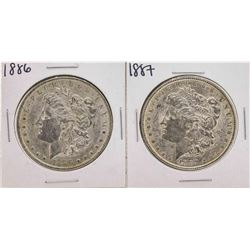 Set of 1886-1887 $1 Morgan Silver Dollar Coins