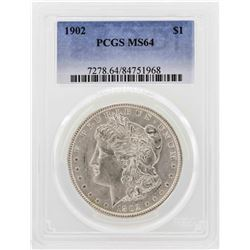 1902 $1 Morgan Silver Dollar Coin PCGS MS64