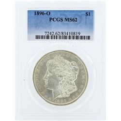 1896-O $1 Morgan Silver Dollar Coin PCGS MS62