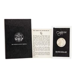 1881-CC $1 Morgan Silver Dollar Coin GSA w/ Box & COA