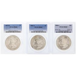 1879-S to 1881-S $1 Morgan Silver Dollar Coins PCGS MS65
