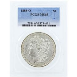 1888-O $1 Morgan Silver Dollar Coin PCGS MS65