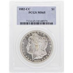 1882-CC $1 Morgan Silver Dollar Coin PCGS MS65