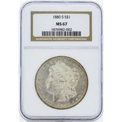 1880-S $1 Morgan Silver Dollar Coin NGC MS67