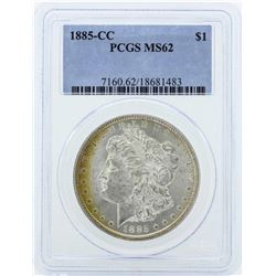 1885-CC $1 Morgan Silver Dollar Coin PCGS MS62