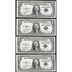 Lot of (4) Consecutive 1935C $1 Silver Certificate Notes