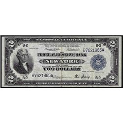 1918 $2 Federal Reserve Bank Note New York
