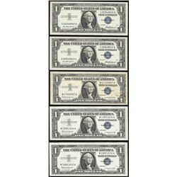 Lot of (10) 1935 & 1957 $1 Silver Certificate Notes