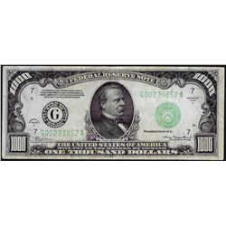 1934A $1000 Federal Reserve Note Chicago