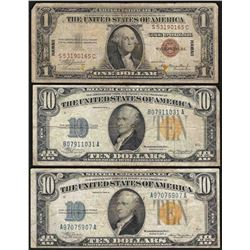 Lot of (3) WWII Emergency Hawaii & North Africa Notes