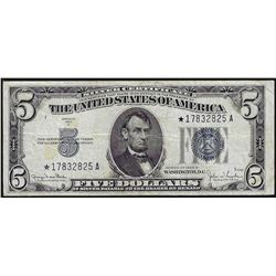 1934D $5 Silver Certificate STAR Note