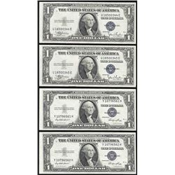 Lot of (4) 1935 $1 Silver Certificate Notes