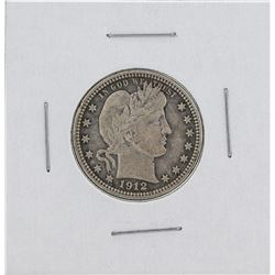 1912 Barber Silver Quarter Coin
