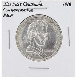 1918 Lincoln Illinois Centennial Commemorative Half Dollar Coin