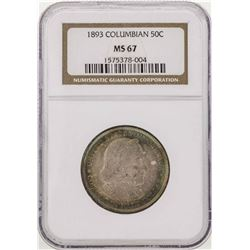 1893 Columbian Exposition Commemorative Half Dollar Coin NGC MS67